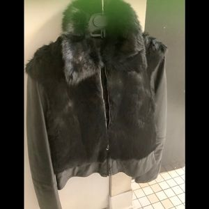 Sexy Real leather/rabbit fur fashionable jacket.